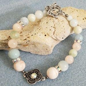 Jewelry - Pastel colors of morganite beaded bracelet